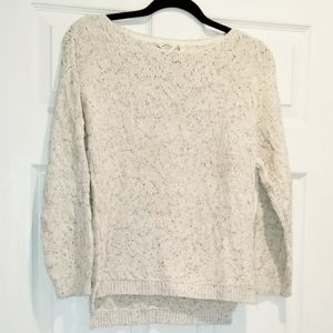 FATFACE 100% cotton mottled grey/white sweater
